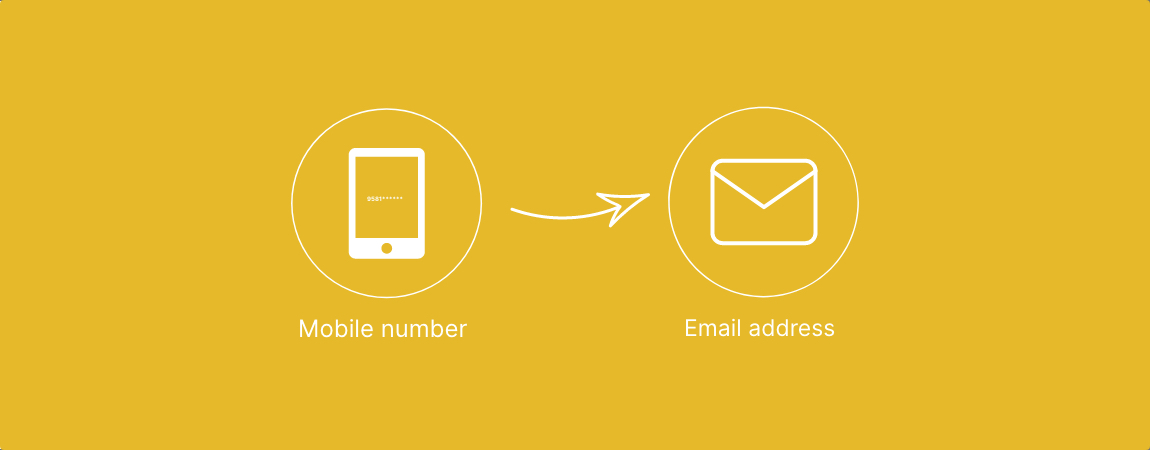 Sign up with Email address instead of mobile number